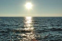 Tramonto del mare Immagini Stock