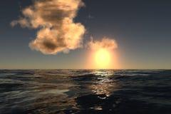 Tramonto del mare immagine stock