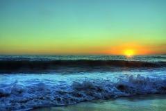 Tramonto del mare Fotografie Stock