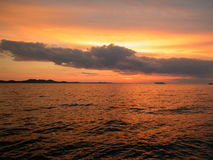 Tramonto del mare fotografie stock libere da diritti