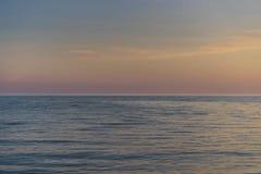 Tramonto del mare Fotografia Stock Libera da Diritti