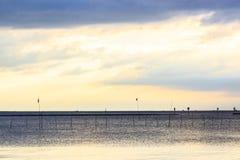 Tramonto del mare in Tailandia Fotografia Stock