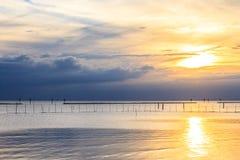 Tramonto del mare in Tailandia Fotografia Stock Libera da Diritti