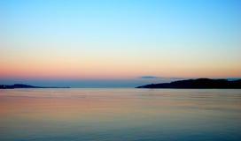 Tramonto del mare variopinto Fotografie Stock
