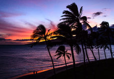 tramonto del Maui Immagini Stock Libere da Diritti