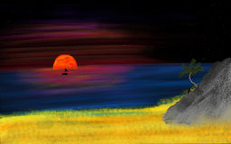 tramonto del mio sogno Immagine Stock Libera da Diritti