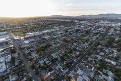Tramonto del nord San Fernando Valley Aerial di Hollywood Immagine Stock