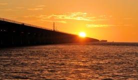 Tramonto del ponte Fotografia Stock