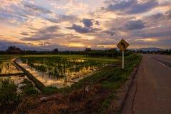 tramonto del sole del cielo Fotografia Stock