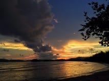 tramonto del sole del cielo Fotografie Stock Libere da Diritti