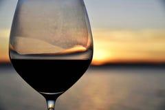 Tramonto del vino Fotografie Stock Libere da Diritti