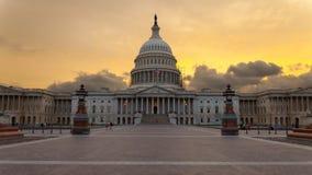 Tramonto del Washington DC della costruzione del Campidoglio Fotografie Stock Libere da Diritti