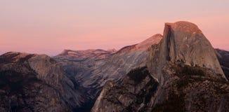 Tramonto del Yosemite Fotografia Stock Libera da Diritti