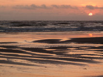Tramonto dell'allerta del capo dalla spiaggia Immagini Stock Libere da Diritti