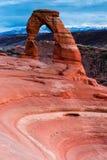 Tramonto dell'arco fragile fotografie stock libere da diritti