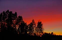 Tramonto dell'arcobaleno Fotografia Stock Libera da Diritti