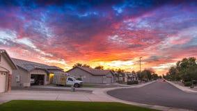 Tramonto dell'Arizona Fotografie Stock Libere da Diritti