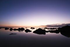 Tramonto dell'Isola Maurizio Fotografia Stock Libera da Diritti