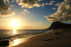 Tramonto dell'Oahu fotografie stock