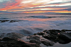 Tramonto dell'oceano fotografia stock