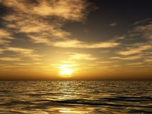 Tramonto dell'oceano Fotografie Stock