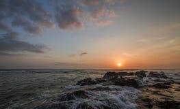 Tramonto dell'oceano Immagine Stock Libera da Diritti