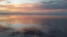 Tramonto dell'oceano di fiaba Immagini Stock