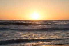 Tramonto dell'Oceano Pacifico immagini stock libere da diritti