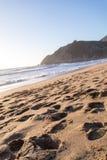 Tramonto dell'Oceano Pacifico fotografie stock libere da diritti