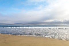 Tramonto dell'Oceano Pacifico fotografie stock