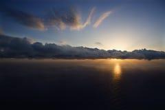 Tramonto dell'Oceano Pacifico. immagine stock libera da diritti