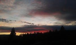 Tramonto dell'Oregon Immagini Stock