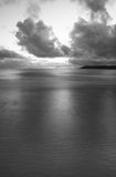 Tramonto della baia di Oxwich Fotografia Stock