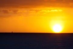 Tramonto della barca a vela Fotografia Stock Libera da Diritti
