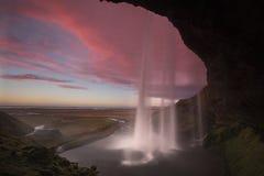 Tramonto della cascata Fotografia Stock Libera da Diritti