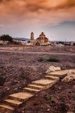 Tramonto della chiesa Fotografia Stock Libera da Diritti