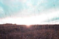 Tramonto della collina di Cleeve Fotografia Stock