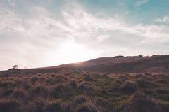 Tramonto della collina di Cleeve Immagine Stock