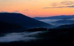 Tramonto della collina di Monka Fotografia Stock