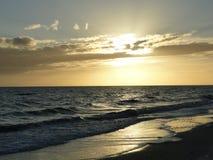 Tramonto della costa di golfo fotografia stock libera da diritti