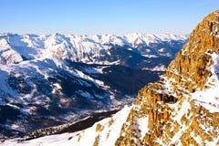 Tramonto della montagna Immagine Stock Libera da Diritti