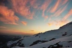 Tramonto della montagna Immagine Stock
