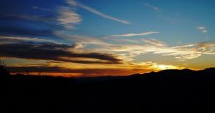 Tramonto della montagna Fotografie Stock