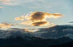 Tramonto della montagna Fotografia Stock Libera da Diritti