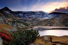Tramonto della montagna di HDR Fotografia Stock Libera da Diritti