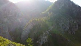 Tramonto della montagna della Tabella video d archivio