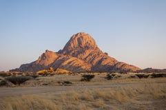 Tramonto della Namibia Immagini Stock Libere da Diritti