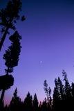 Tramonto della sosta nazionale del Montana fotografia stock libera da diritti
