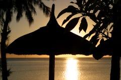 Tramonto della spiaggia immagine stock libera da diritti