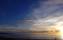 Tramonto della spiaggia immagine stock